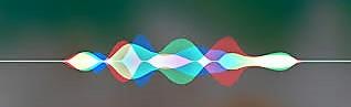 Het symbool van Apple Siri