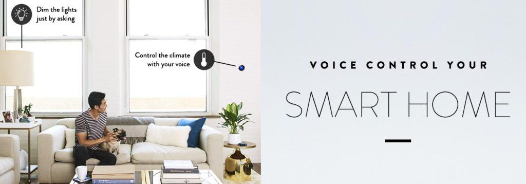 in een slim huis bedien je de apparaten met je stem