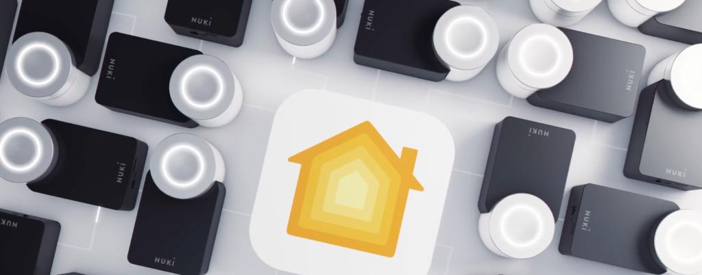 visualisatie van slim deurslot in een slim huis